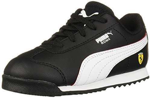 PUMA Unisex Ferrari Roma Sneaker, Black White-Rosso Corsa, 5 M US Big Kid (Sneakers Puma Ferrari)