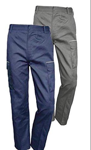 9ef9a3def6c Issa Line Pantalón de trabajo multibolsillos color Gris talla L: Amazon.es:  Ropa y accesorios