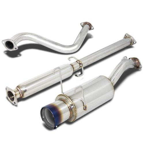 (For Honda Del Sol Catback Exhaust System 4.5 inches Burn Tip Muffler - EG EH)