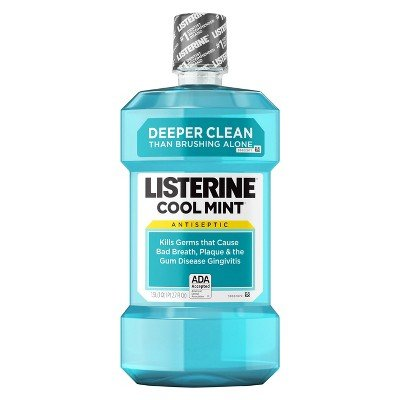 Listerine174; Cool Mint174; Antiseptic Mouthwash For Fresh Breath And A Cleaner Mouth - 1 L by Listerine