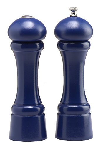 Chef Specialties 8 Inch Windsor Pepper Mill and Salt Shaker Set - Cobalt Blue