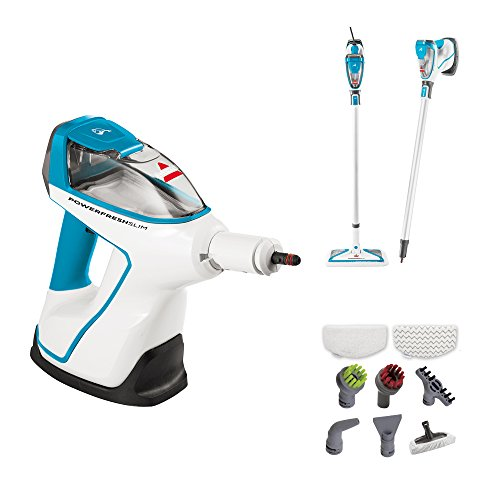 Bissell PowerFresh Slim Hard Wood Floor Steam Cleaner System, Steam Mop, Handheld Steamer and Scrubbing Tools, and Clothing Steamer Tool, 2075A -