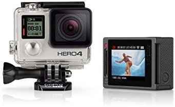 GoPro HERO4 Silver Edition Adventure - Videocámara deportiva (12 Mp, Wi-Fi, Bluetooth, sumergible hasta 40 m)