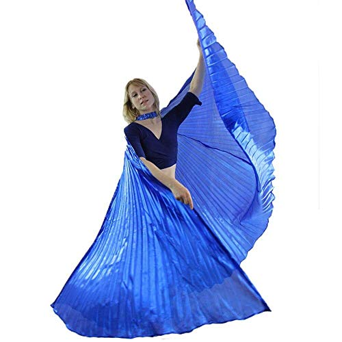 Danzcue 360 Degree Worship Isis Wings, Solid Royal Blue, M-L-Adult