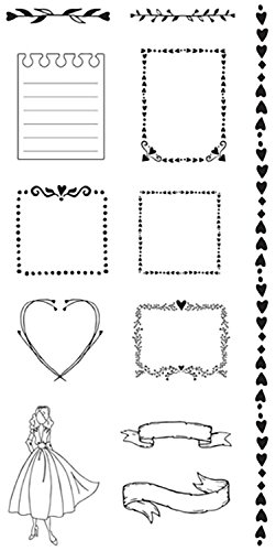 Prima Marketing JN Doll (Journaling Spot Stamps)