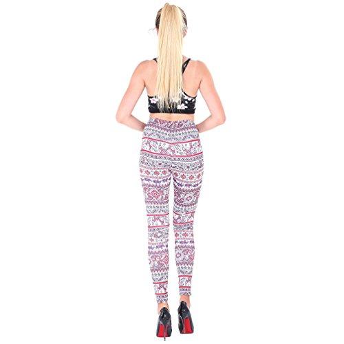 NiSeng Mujeres Skinny Navidad Impresión Elástico Skinny Pantalones Leggins Slim Pantalones Estilo 13#