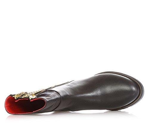 CESARE PACIOTTI - Bottine noire en cuir,strass, fille,filles,femme,enfant