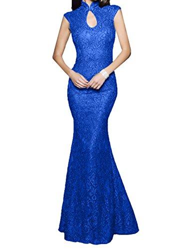 Vintag La Blau Braut Schmaler Lang Abendkleider mia Promkleider Schnitt Abschlussballkleider Spitze Meerjungfrau Royal BqSEgAnwq