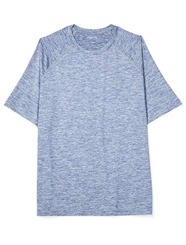 - Amazon Essentials Men's Tech Stretch Short-Sleeve T-Shirt, Dk Blue Spacedye, 3X