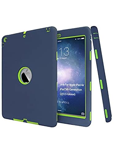 Vogue Shop iPad Air Case, Heavy Duty Full-body Hybrid Protective Hard Cover Case for Apple iPad Air iPad 5(5th Generation 2013 Released) for (Cool Ipad Air Case)