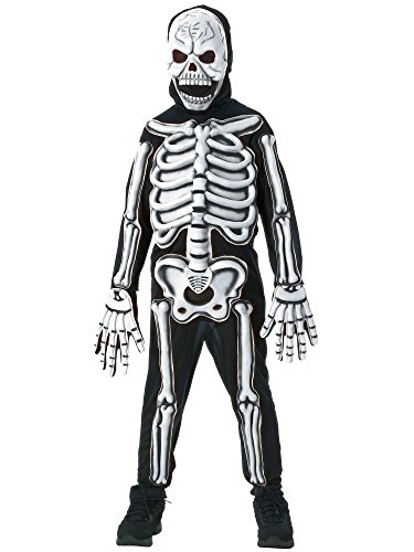 Rubies Glow in The Dark Skeleton Child Costume, Small, One -