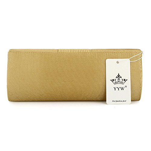Ladies Handbag Crystal Women Pleated Wedding Clutch Bags Evening Formal Designer Satin Evening for Purse Silver UNYU dwqnAxp7ad