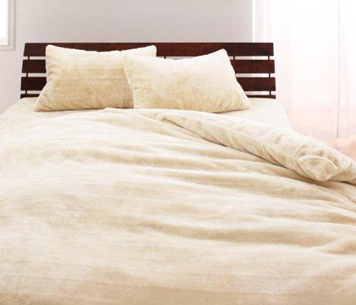 プレミアムマイクロファイバー ベッド用3点セット(掛け布団カバーボックスシーツピローケース) セミダブル (アンティークバニラ)静電気防止機能付き B00MEJ56BI アンティークバニラ アンティークバニラ
