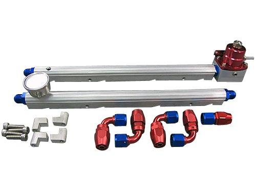 Billet Fuel Rail Fitting AN6 + Gauge Regulator + Oil Fitting For GM LS1 (Ls1 Fuel Pressure Regulator)