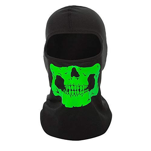 Boomboom Halloween Scary Sunscreen Windproof Dustproof Mask Cosplay Ghost Full Mask (Green)