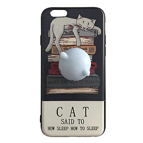 Pinzhi 3D Nice Soft Silicone Pappy Squishy Cat pour iphone 6 6s Housse Case Octopus Phone Case Style D