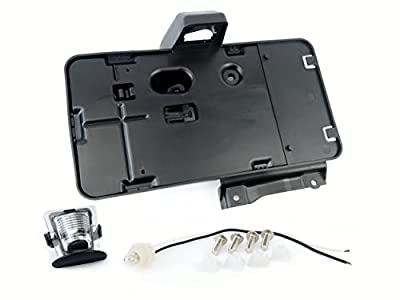 License Plate Tag Bracket With Light - Replaces# 68064720AA - Fits Jeep Wrangler Including Years 2009, 2010, 2011, 2012, 2013, 2014 - Rear Plate Holder Frame