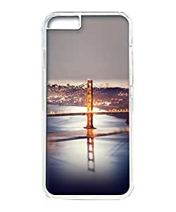 VUTTOO Iphone 6 Case, Long Bridge At Night Hardshell Case for Apple iPhone 6 4.7 Inch PC Transparent