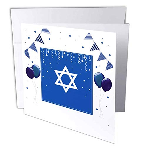 3dRose InspirationzStore - Occasions - Blue Star of David Festive Design for Jewish Holidays and Celebrations - 12 Greeting Cards with envelopes ()