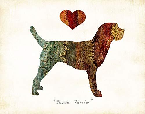 BORDER TERRIER Dog Breed Watercolor Art Print by Dan Morris - Border Terrier Prints
