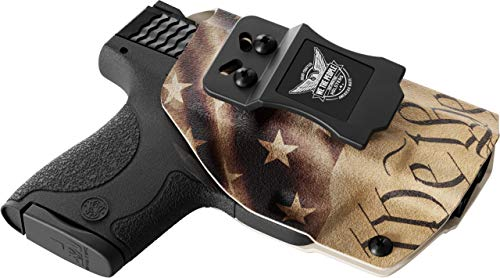 We The People - IWB Holster Compatible with Glock 43 G43 43X G43X Gun -  Inside Waistband Concealed Carry Kydex Holster (Right Hand, Constitution)
