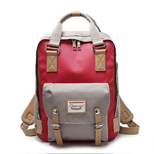 Backpacks amp;red Women Backpack and Girls color Multi Bags Casual Beige Waterproof Travel School Cute for wSIvRn86q