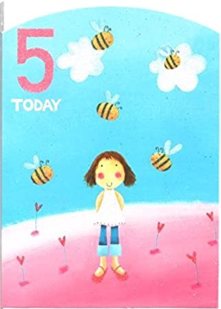 Childrens birthday card for five 5 year old girl free 1st class childrens birthday card for five 5 year old girl free 1st class post bookmarktalkfo Image collections