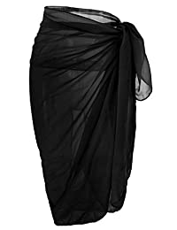 Womens Chiffon Swimwear Plus Size Bathing Suit Cover Ups Beach Sarong Wrap