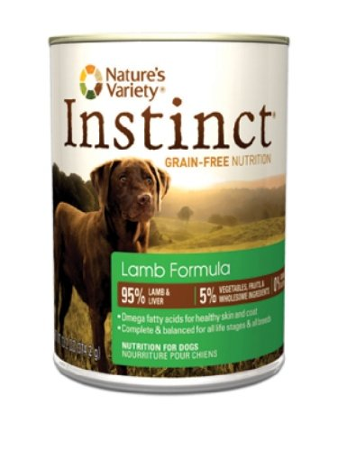 Instinct Grain-Free Lamb Formula Canned Dog Food by Nature's Variety, 13.2-Ounce Cans (Pack of 12), My Pet Supplies