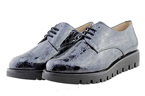 Grey 175701 Speciale Lacci Scarpe Larghezza con Comfort PieSanto Donna Pelle Gris qBPw7WvZ