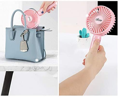 Handheld Small Fan Student Dormitory USB Charging Small Mini Portable Mute with Cute net red Hand