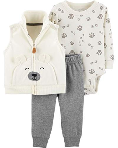 Carter's Baby Boys' Vest Sets (Ivory Multi, 3 Months)