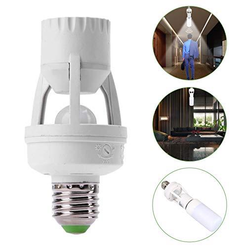 Infrared PIR Motion Sensor E27 LED Light Lamp Bulb Holder Socket Switch ()