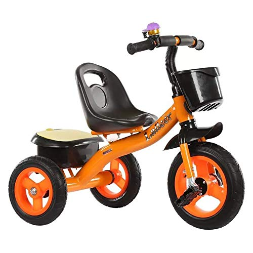 Baby Tricycle,Trike for 3 Year Old with Handle Tricycle Children Pedal Smart Design 3 Wheeler,Toddlers Children Ride on Pedal Trike Bike Metal Frame 18 Months to 5 Years, Orange