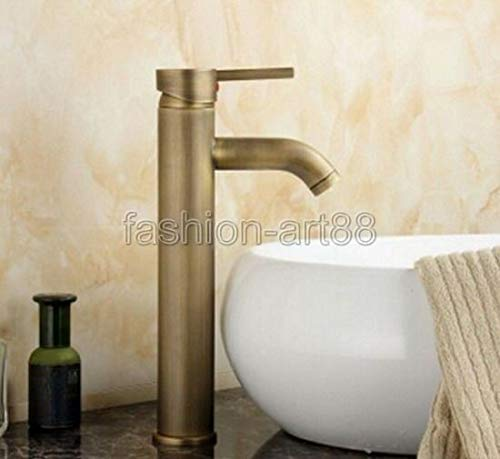 - FidgetKute Antique Brass Single Lever Bath Bamboo Shape Faucet Mixer Water Tap fan012