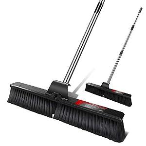 Mastertop 60cm Outdoor Stiff Sweeping Brush with Stiff Bristles Heavy Duty Garden Yard Patio Broom Sweeper for Floors…