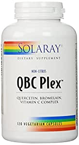 QBC Plex Quercetin, Bromelain Solaray 120 Caps