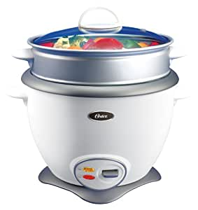 Oster 4731 10 cup uncooked resulting in 20 cup cooked Rice Cooker and Food Steamer, White
