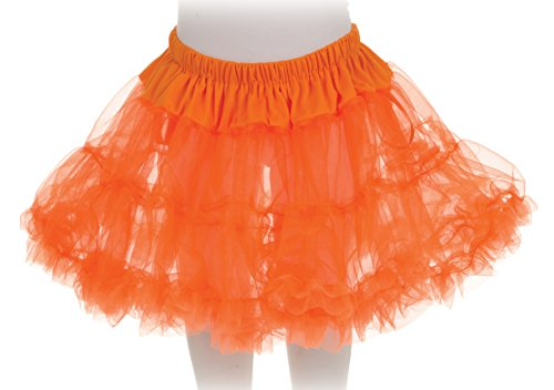 Little Girls Neon Orange Tutu (Diy Halloween Costumes For Groups)