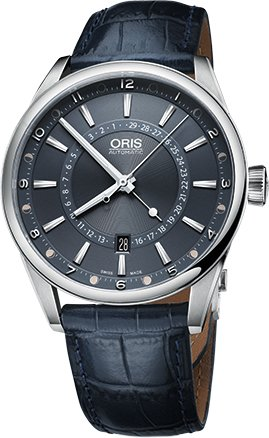 Oris 01 761 7691 4085-Set LS Men's Watch Tycho Brahe Limited Edition Blue Leather Strap