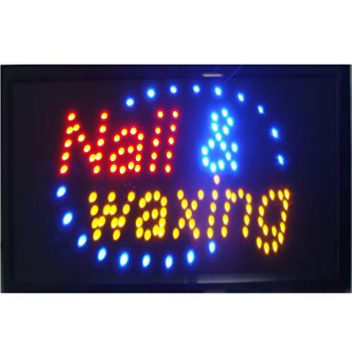 (CHENXI Hair Cut Tattoo Piercing Nail Waxing Beauty Store Sign Indoor Use Size 48 X 25 cm (48 X 25 cm, Nail waxing))