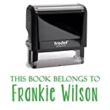 Green Ink, Self Inking Stamp. Personalized; This Book Belongs To, From The Library or A Bank Deposit Stamp! Customized Stamper. Fill In With Your Custom Information Into 2 Lines With Unique Font