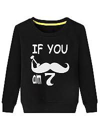 CIN-FAN Kids If You Mustache I Am Two Sweatshirt