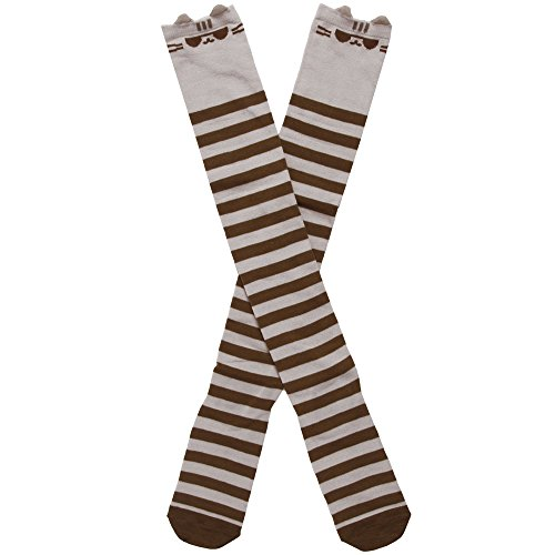 Pusheen with Sunglasses Women's Striped Knee High Socks (Sunglasses Pusheen)