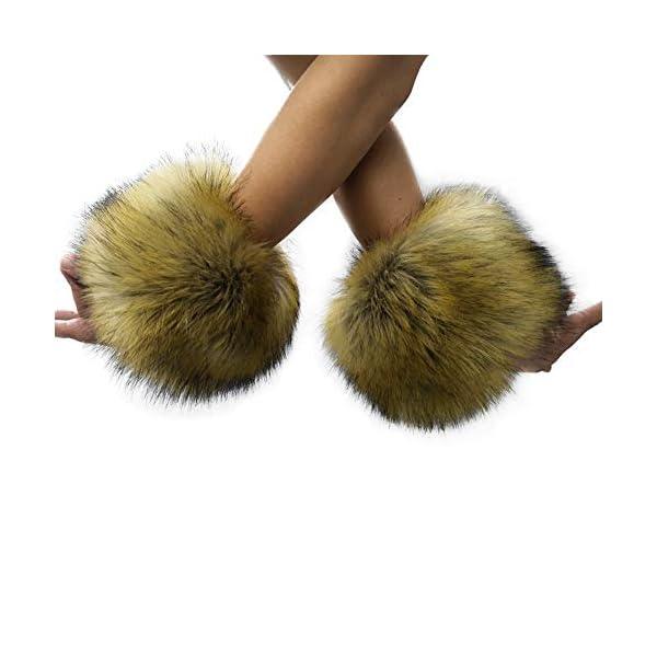 Furry Wrist Cuffs Leg Warmers
