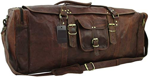 Yuge Bear 32 FS3 XXL Oversized Vintage Genuine Leather Flap Duffel Travel Bag