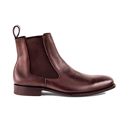 Diego Stiefelette Kalbsleder Prime Rahmengenäht Shoes Dunkelbraun Crust Braun Caffe feinstes PwqHSZ
