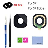 oGoDeal Back Rear Camera Glass Lens Cover Replacement Repair Kit for Samsung Galaxy S7/S7 Edge (2 Pack)