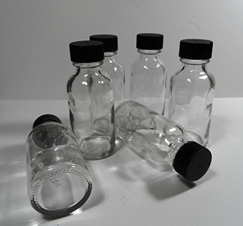 12 Pack Brand New GLASS Boston Round 1 Ounce Bottles w/Caps-Heavyweight-Essential Oils, Travel, Medicine by Magnetic Water Technology
