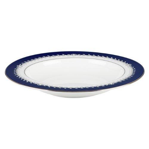 Lenox Marchesa Couture Pasta/Rim Soup Bowl, Empire Pearl Indigo by Lenox